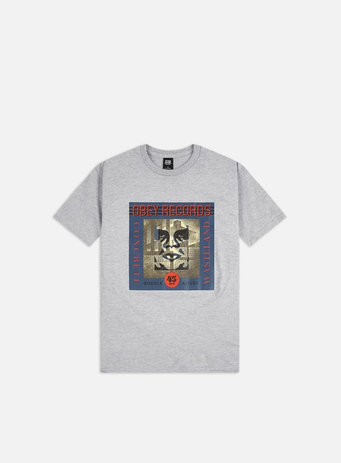 Short Sleeve T-shirts Obey Obey Concrete Wasteland Basic T-shirt