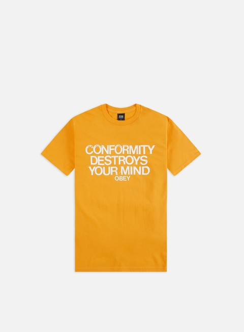 Outlet e Saldi T-shirt a Manica Corta Obey Obey Conformity Destroys Basic T-shirt