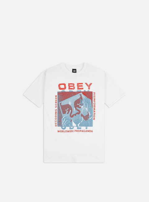 Outlet e Saldi T-shirt a Manica Corta Obey Obey Decoding Screens Basic T-shirt