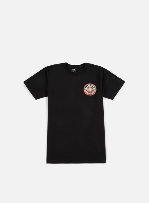Outlet e Saldi T-shirt a Manica Corta Obey Obey Dissent MFG Wreath T-shirt