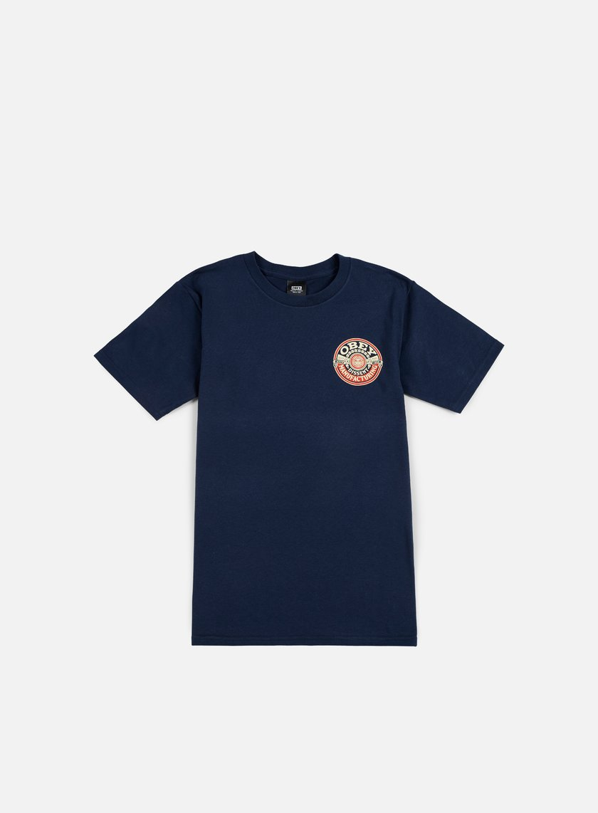 Obey - Obey Dissent MFG Wreath T-shirt, Navy