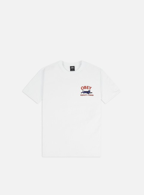 Short Sleeve T-shirts Obey Obey Equality X Power Basic T-shirt