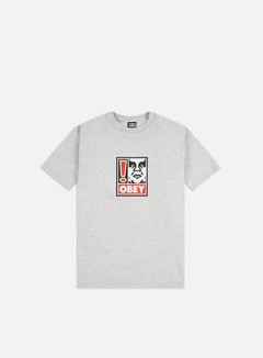 Obey - Obey Exclamation Point Heavyweight T-shirt, Heather Grey
