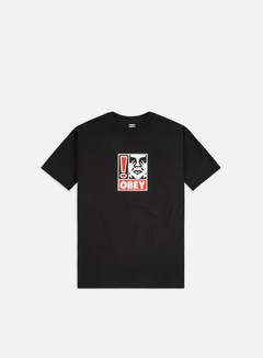 Obey - Obey Exclamation Point Heavyweight T-shirt, Off Black
