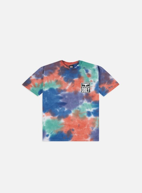 Outlet e Saldi T-shirt a Manica Corta Obey Obey Eyes Icon Heavyweight Tie-Dye T-shirt