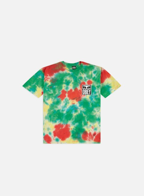 Short Sleeve T-shirts Obey Obey Eyes Icon Heavyweight Tie-Dye T-shirt