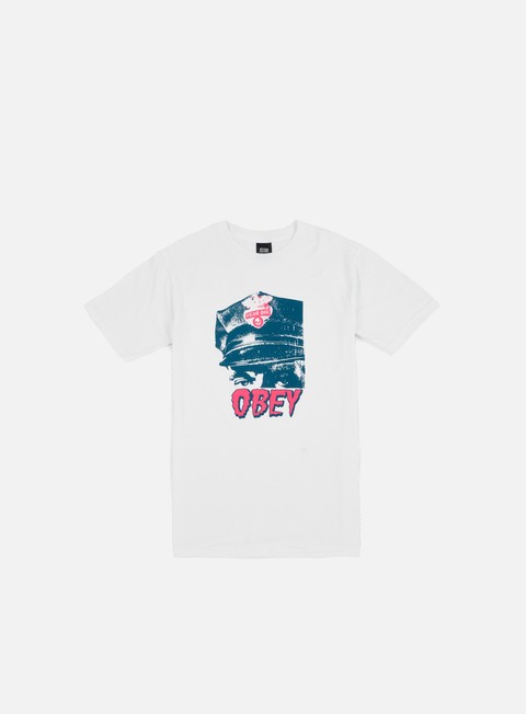 Outlet e Saldi T-shirt a Manica Corta Obey Obey Fear Div. T-shirt