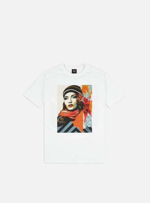 Outlet e Saldi T-shirt a Manica Corta Obey Obey Fire Sale Basic T-shirt