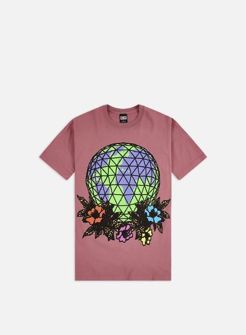 Outlet e Saldi T-shirt a Manica Corta Obey Obey Floral Globe Heavyweight