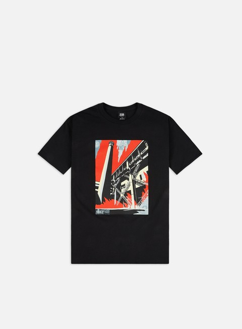 Outlet e Saldi T-shirt a Manica Corta Obey Obey Fossil Factory Basic T-shirt
