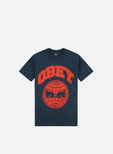 Outlet e Saldi T-shirt a Manica Corta Obey Obey Icon Planet Basic T-shirt