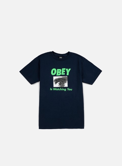 Short Sleeve T-shirts Obey Obey Is Watching You T-shirt