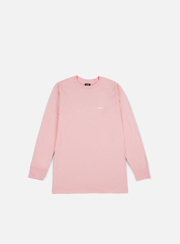 Obey - Obey Jumble Lo-Fi Ls T-shirt, Pink