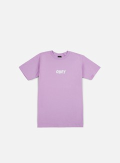 Obey - Obey Jumbled T-shirt, Lavender Blue