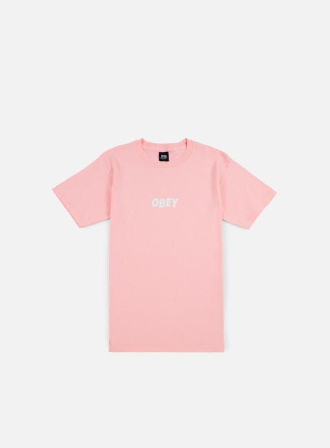 t shirt obey obey jumbled t shirt pink