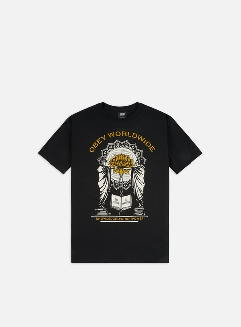 Outlet e Saldi T-shirt a Manica Corta Obey Obey Knowledge + Action Basic T-shirt