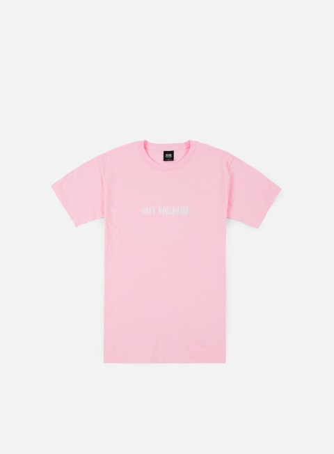 t shirt obey obey new times worldwide t shirt pink