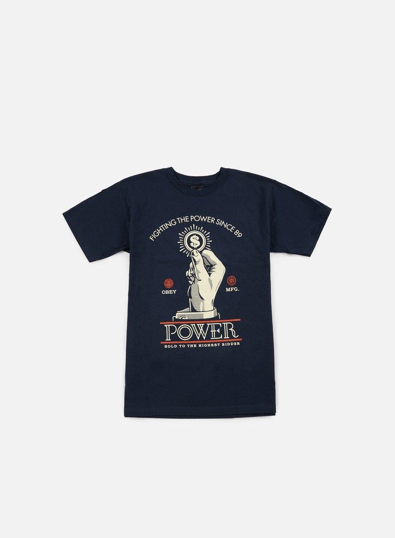 Obey - Obey Power Bidder T-shirt, Navy