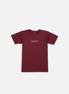Obey - OBEY T-shirt, Burgundy 1