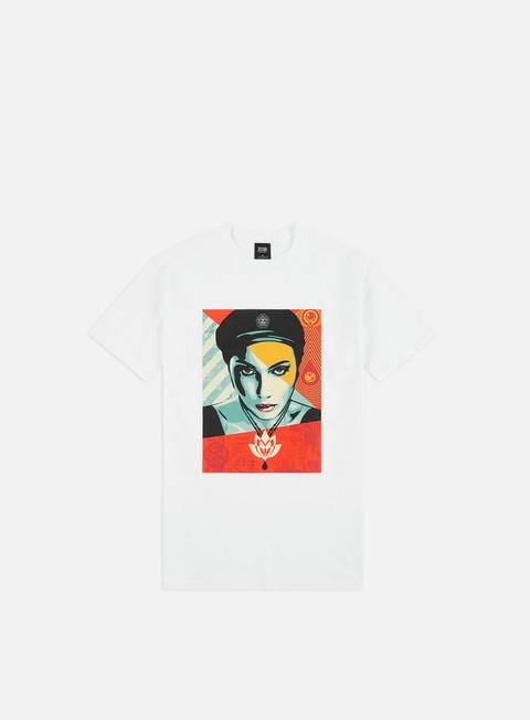 Outlet e Saldi T-shirt a Manica Corta Obey Oil Lotus Woman Basic T-shirt