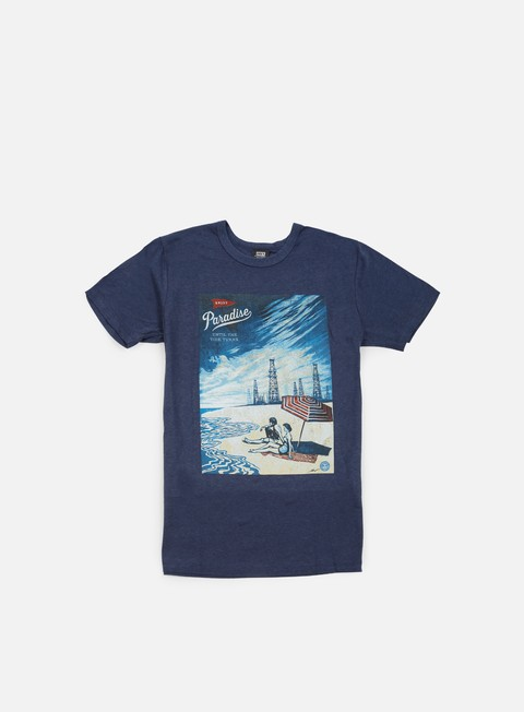 t shirt obey paradise turns triblend t shirt mood indigo