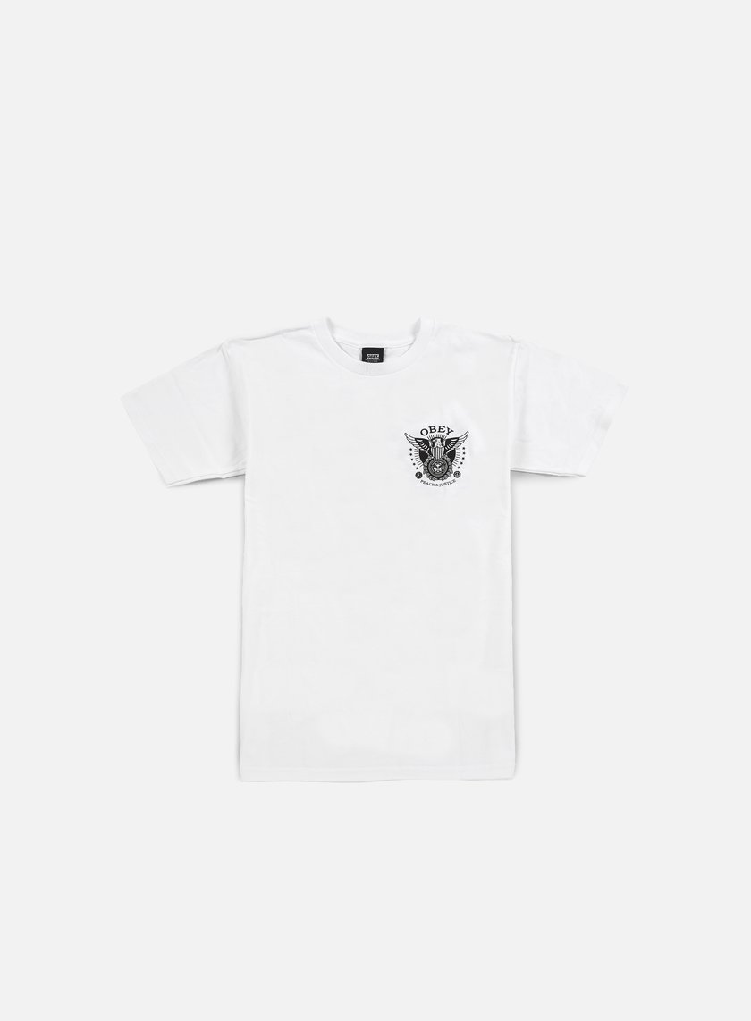 Obey - Peace & Justice Eagle T-shirt, White