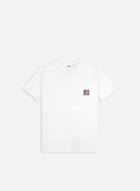 Short Sleeve T-shirts Obey Point Organic Pocket T-shirt