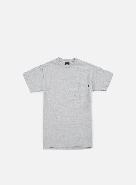 t shirt obey premium basic pocket t shirt heather grey