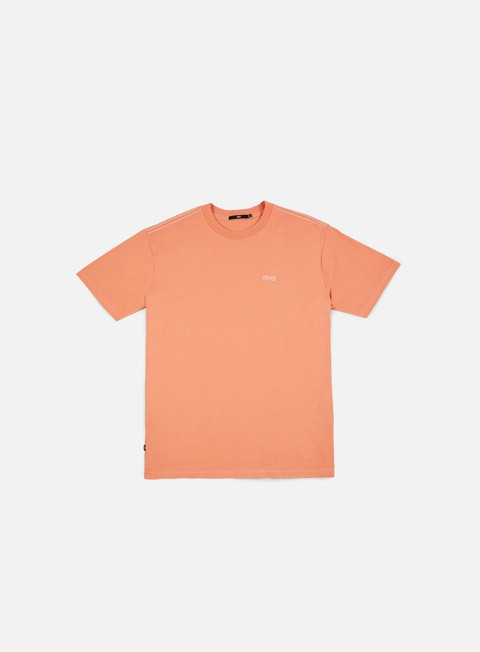 t shirt obey pressure box t shirt coral