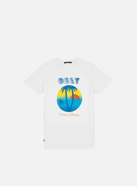 T-shirt a Manica Corta Obey Problems In Paradise T-shirt