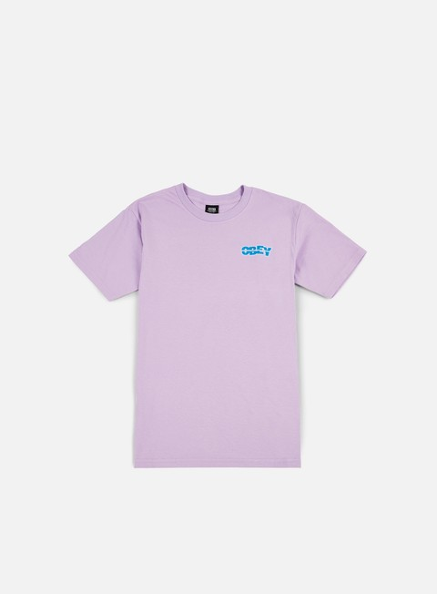 t shirt obey quake embroidered t shirt lavender blue