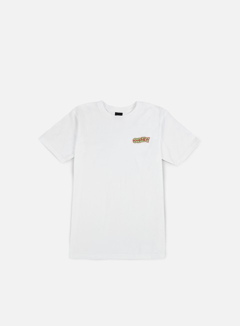 t shirt obey quake embroidered t shirt white