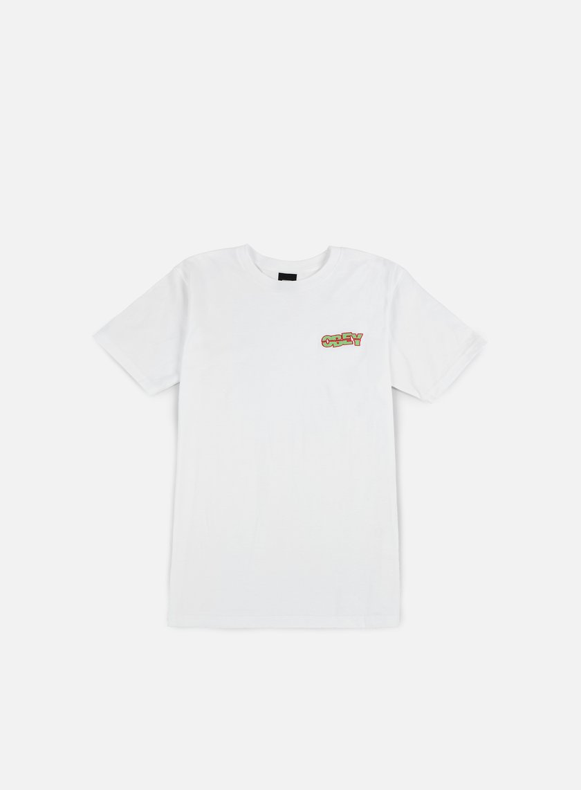 Obey - Quake Embroidered T-shirt, White