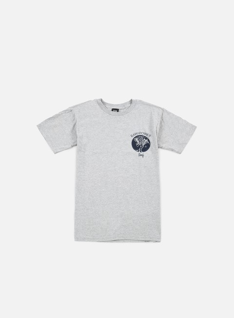 t shirt obey raw power tiger t shirt heather grey