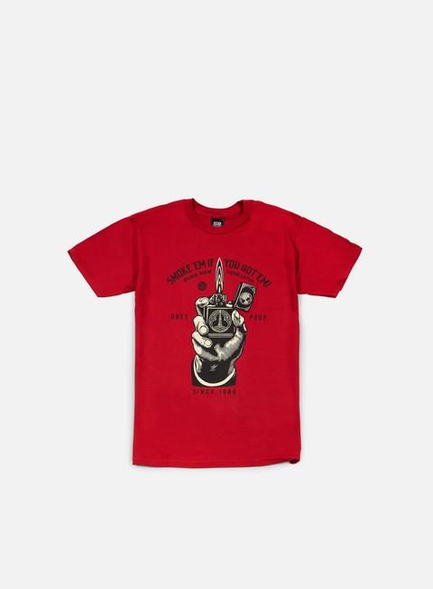 Outlet e Saldi T-shirt a Manica Corta Obey Smoke Em T-shirt