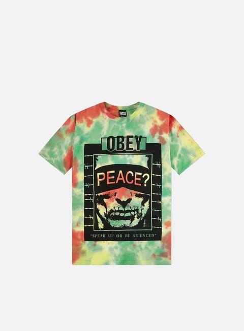 Short Sleeve T-shirts Obey Speak Up Heavyweight Tie Dye T-shirt