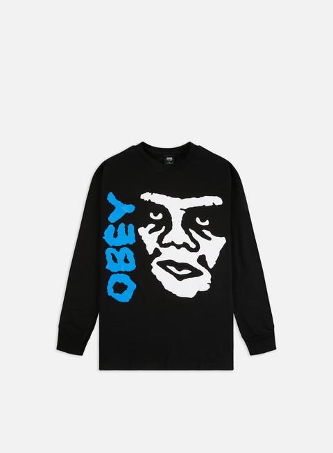Outlet e Saldi T-shirt a manica lunga Obey The Creeper 2 Basic LS T-shirt