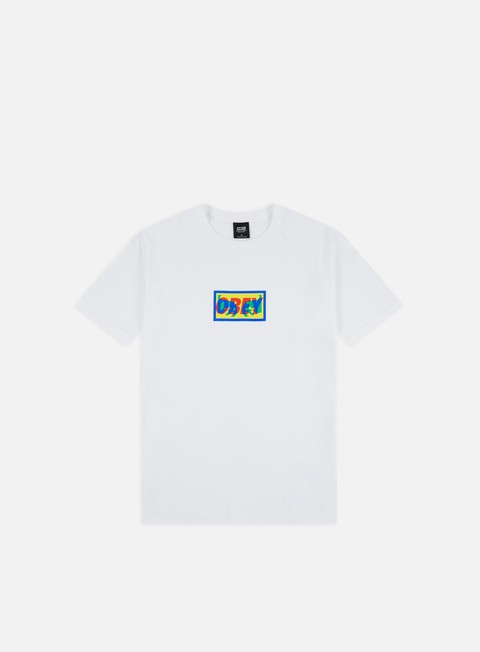 Outlet e Saldi T-shirt a Manica Corta Obey Transparent Obey Basic T-shirt