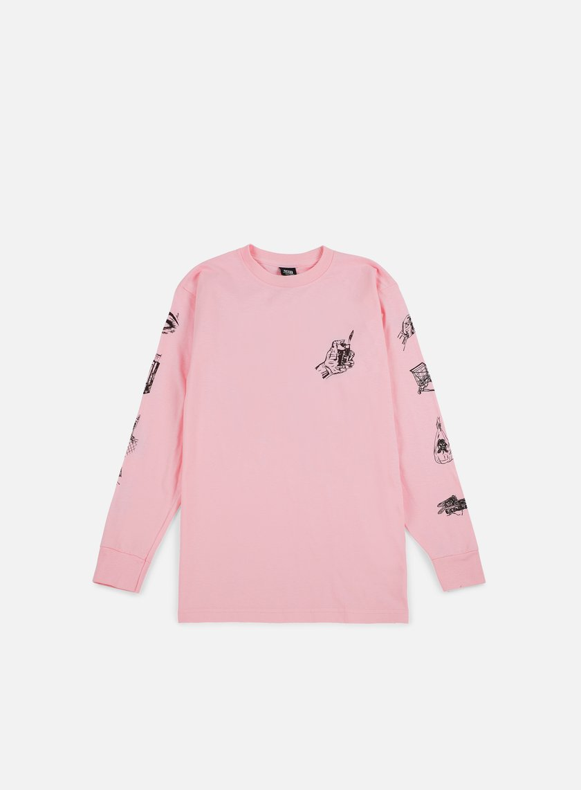 Obey - Tropical Casual Artist LS T-shirt, Pink