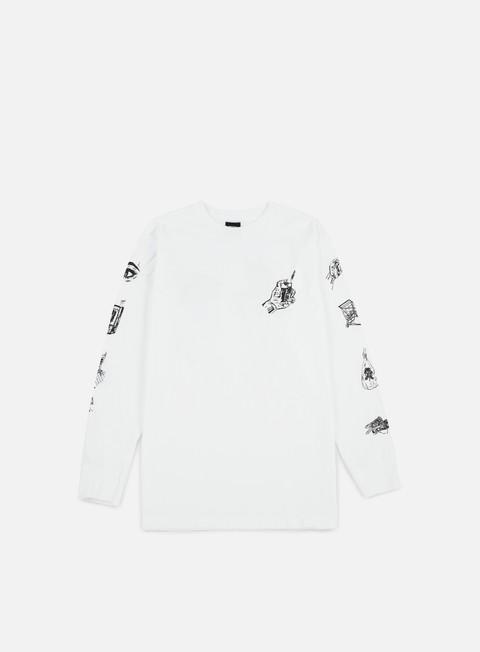 Outlet e Saldi T-shirt a manica lunga Obey Tropical Casual Artist LS T-shirt