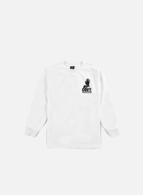 t shirt obey tuff love ls t shirt white