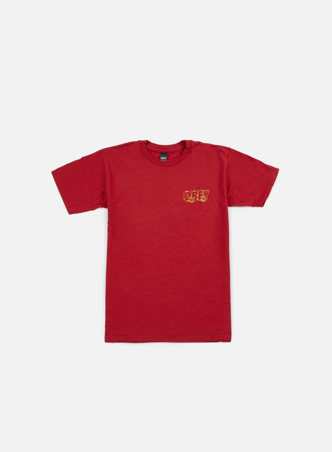 t shirt obey wheels t shirt red