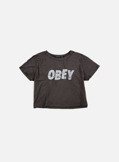 Obey - WMNS All Tied Up Tiny T-shirt, Dusty Black 1