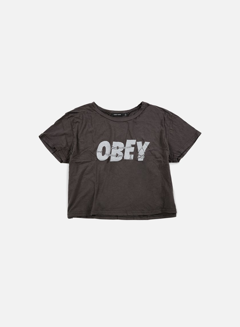 Obey - WMNS All Tied Up Tiny T-shirt, Dusty Black