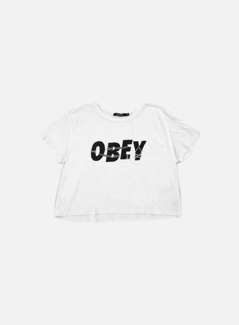 t shirt obey wmns all tied up tiny t shirt white