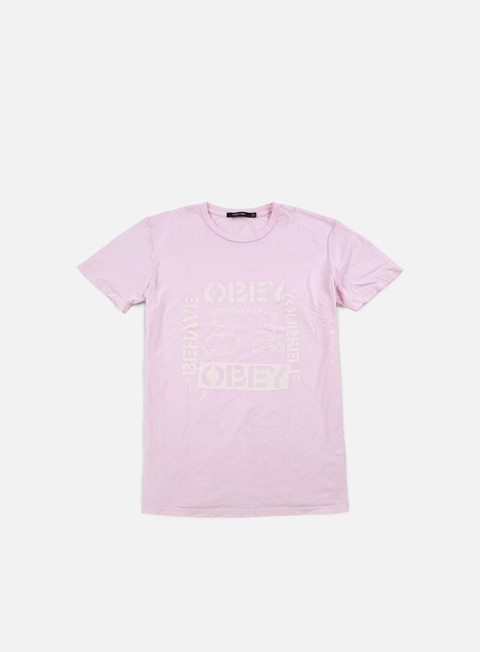 t shirt obey wmns behave yourself t shirt pink