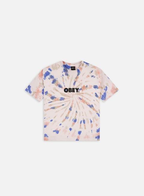 Short Sleeve T-shirts Obey WMNS Bold Custom Box Tie Dye T-shirt