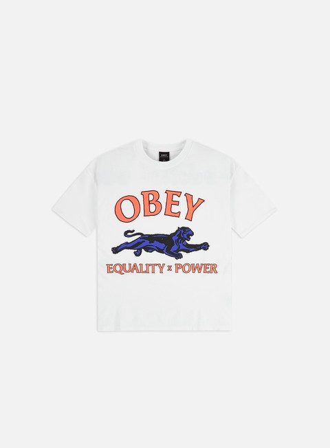 Short Sleeve T-shirts Obey WMNS Equality & Power Custom Cropped T-shirt