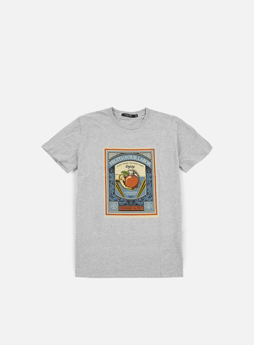 Obey - WMNS Fruits Of Our Labor Classic T-shirt, Heather Grey