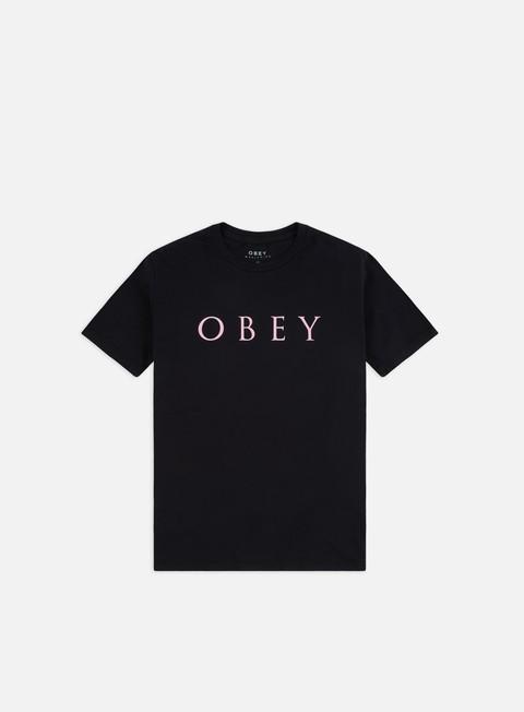 Outlet e Saldi T-shirt a Manica Corta Obey WMNS Novel Obey 2 Classic T-shirt